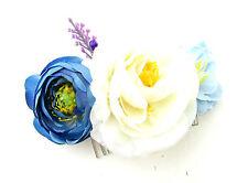 Blanche Ivoire Rose Bleue Lavande Wilflower Fleur Peigne À Cheveux