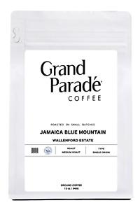 100% Jamaican Blue Mountain Wallenford, Medium Roasted Ground Coffee, 1 Lb Bag