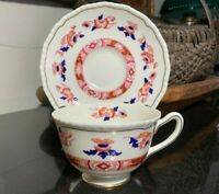 "Royal Doulton The Berkshire 2 3/8"" Footed Cup & Saucer Rope Edge V2020 Excellent"