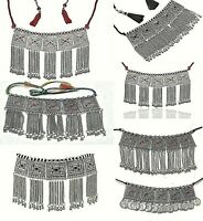 Indian Afghan Necklace Jewelry Tribal Choker Turkish Boho Oxidize German Silver