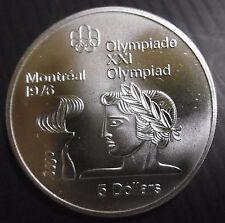 CANADA - 5 DOLLARS 1976 - JO MONTREAL 76 - ELIZABETH II - Argent N°2
