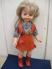 "Vintage Palitoy Original Clothes Dressed 18"" Plastic Blonde Doll Open/Shut Eyes"