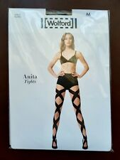 New Wolford Tights Anita Tights Size M Black/Black