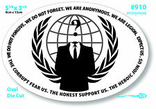 Large Sticker Euro Guy Fawkes Laptop Revolt Anonymous Hacker Obey  910