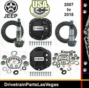 Jeep Wrangler JK Dana 44 30 5.13 Gear Set Ring Pinion Kit Yukon Covers USA Std