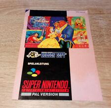 Super Nintendo (SNES) // Die Schöne und das Biest - Anleitung // dt. PAL