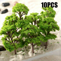 10Pcs Model Trees Railroad Diorama Wargame Scenery Mini Plastic HO Scale Scene