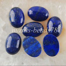 Free shipping 13x18mm Lapis Lazuli Stones Oval Cabochon CAB No Hole 10PCS MN740