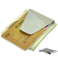 Hot Newest Modern Slim Double Sided Money Clip Credit Card Holder Wallet Sales