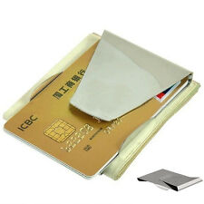 Hot Newest Modern Slim Double Sided Money Clip Credit Card Holder Wallet Fine