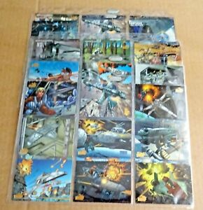 MULTI-LIST OF TOPPS STAR WARS VEHICLES BASE TRADING CARDS SLEEVES OF 9 CARDS