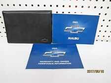 2002 Chevrolet Malibu Owners Manual Set    FREE SHIPPING