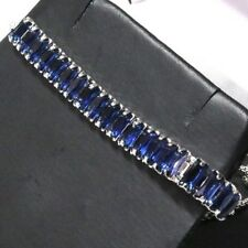 Gorgeous Blue Sapphire Bracelet Women Jewelry Wedding Engagement Gift Free Ship