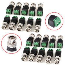 20Pcs Coax CAT5/6 To Camera CCTV BNC Video Balun Male Connector Adapter