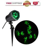 Halloween Projection LED Whirl A Motion + Strobe Spotlight Chasing Green Witches