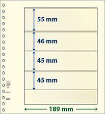 Lindner T-Blanko-hojas con cuatro Bolsas de 10 Paquete Arte Núm. 802 401