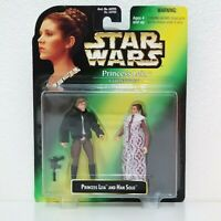 1997 Hasbro Star Wars Princess Leia Collection w/ Han Solo New Green Card