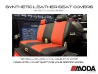 Coverking Moda Synthetic Leather Front Seat Covers for Chevy Corvette