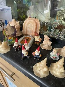 Job Lot Rubber Latex Moulds Gnomes Fairy Door Country House Casting