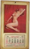 Vintage Rare Marilyn Monroe Nude Pull Away Calendar 1955 Original Golden Dreams