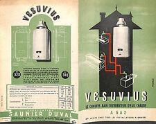 "93 MONTREUIL PROSPECTUS "" CHAUFFE-BAIN SAUNIER DUVAL VESUVIUS "" 1951 ?"