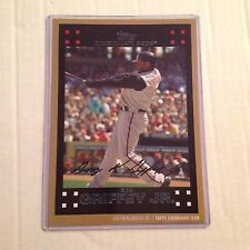 2007 KEN GRIFFEY JR 24/49 made Reds 2015 Topps 5x7 Gold Cardboard Icon jersey #