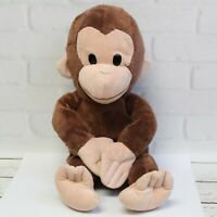 "Russ Curious George Monkey Chimp Brown Stuffed Animal Plush Toy 16"" Misfit"