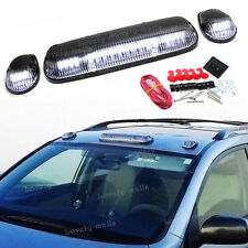 3pcs Clear White 30 LED Cab Roof Top Marker Lights for 2002-2007 Chevrolet/GMC
