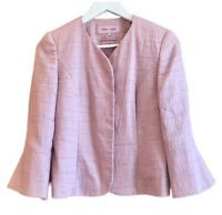 Phase Eight Pink Blazer Jacket Occasion Wedding Guest Satin Fitted UK 8 10
