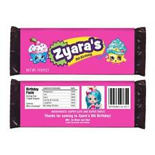 12 Shopkins Candy Wrappers Favors Personalized Party Supplies