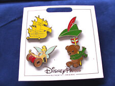 * PETER PAN * New Disney Parks 2017 4 Pin Set on Card - Character Trading Pins