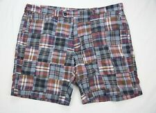 NWT Brooks Brothers India Madras Patchwork Chino Shorts Men's 42 Regular Plaid