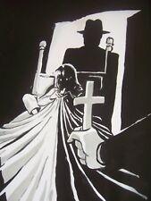 Pintura al óleo Exorcista 30x12 Pulgadas. viernes 13th, Elm Street, Halloween