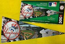New York Yankees Pennant Banner Shaped Puzzle MLB Baseball 300 PC Jigsaw