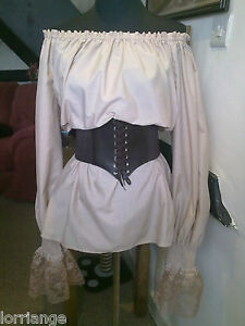 Pirate/Gypsy/Steam Punk/50's Blouse and Belt All Sizes/Colours