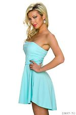SeXy Bandeau Stretch Mullet Mini dress Asymmetric Cocktail dress 34 - 38 sexy