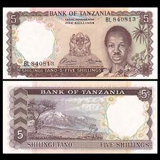 Tanzania 5 Shillings, ND(1966), P-1, UNC