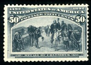 USAstamps Unused FVF US 1893 Columbian Expo Recall of Columbus Scott 240 NG