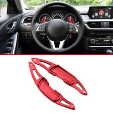 Red Car Steering Wheel Shift Paddle For Mazda 3 6 MX-5 BM GJ ND Screw Mount On