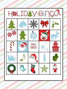 Holiday Christmas Santa Xmas Bingo 11 Cards Game 2021 Safe PDF High Quality File