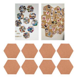 8pcs Creative Hexagon Bulletin Board Delicate Message Board for Home Office Wall