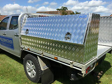 ALUMINIUM SINGLE LID TOOL BOX CHEST VAULT FOR LORRYS TRAILER, CAMPING, FORESTRY