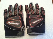 ONEAL ELEMENT MOTOCROSS GLOVES ATV BIKE GLOVES KIDS SIZE 5 BLACK RED GRAY USED