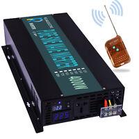 12V to 240V 4000W Pure Sine Wave Power Inverter Solar Off Grid Remote Switch RV