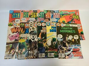 LOT - 13 Mostly DC War Comics - Sgt Rock Charlton Fightin' Marines