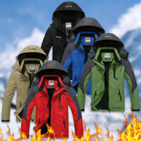 Men's Winter Ski Jacket Coat Snow Waterproof Windbreaker Fleece Warm Outerwea xk