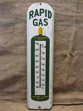 HUGE Vintage Metal Rapid Gas Thermometer > Antique Welding Bottle Iowa Sign 9121