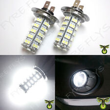 2x 6000K HID xenon white 68-SMD LED H7 bulbs driving fog lights lamps DRL