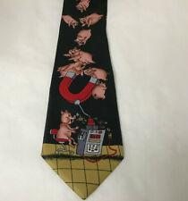 Pig  Mens Necktie 100% Silk