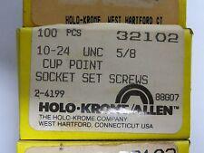 """100 new HOLO-KROME 32102 Allen 10-24 UNC x 5/8"""" Cup Point, Socket Set Screws"""